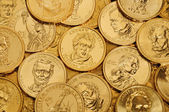 Gold $1 Coins — Stock Photo