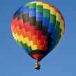 Colorful hot-air balloon against blue sky — Stock Photo