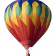 Colorful hot-air balloon against white — Stock Photo