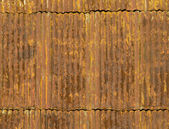 Rusty corrugated metal roof panels — Stock Photo