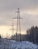 Tower of a high-voltage electric main — Stock Photo