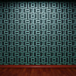 Illuminated tile wall — Stockfoto