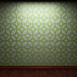 Illuminated tile wall - Stock Photo