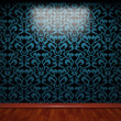 Illuminated tile wall - Foto Stock
