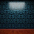 Illuminated tile wall — Stock Photo