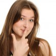 Portrait of a happy young girl gesturing — Stock Photo #5486578
