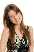 Head shot of woman smiling — Stock Photo
