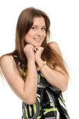 Colpo di testa di donna sorridente — Foto Stock