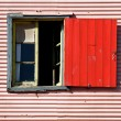 Window and shutters - 图库照片