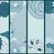Royalty-Free Stock Vector Image: Vector abstract floral banners with flowers and butterflies,  pl
