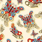 Vector seamless background with butterflies — Stockvektor