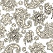 Vector seamless paisley background, — Stockvector