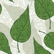 Royalty-Free Stock Imagem Vetorial: Vector seamless vintage green leafs