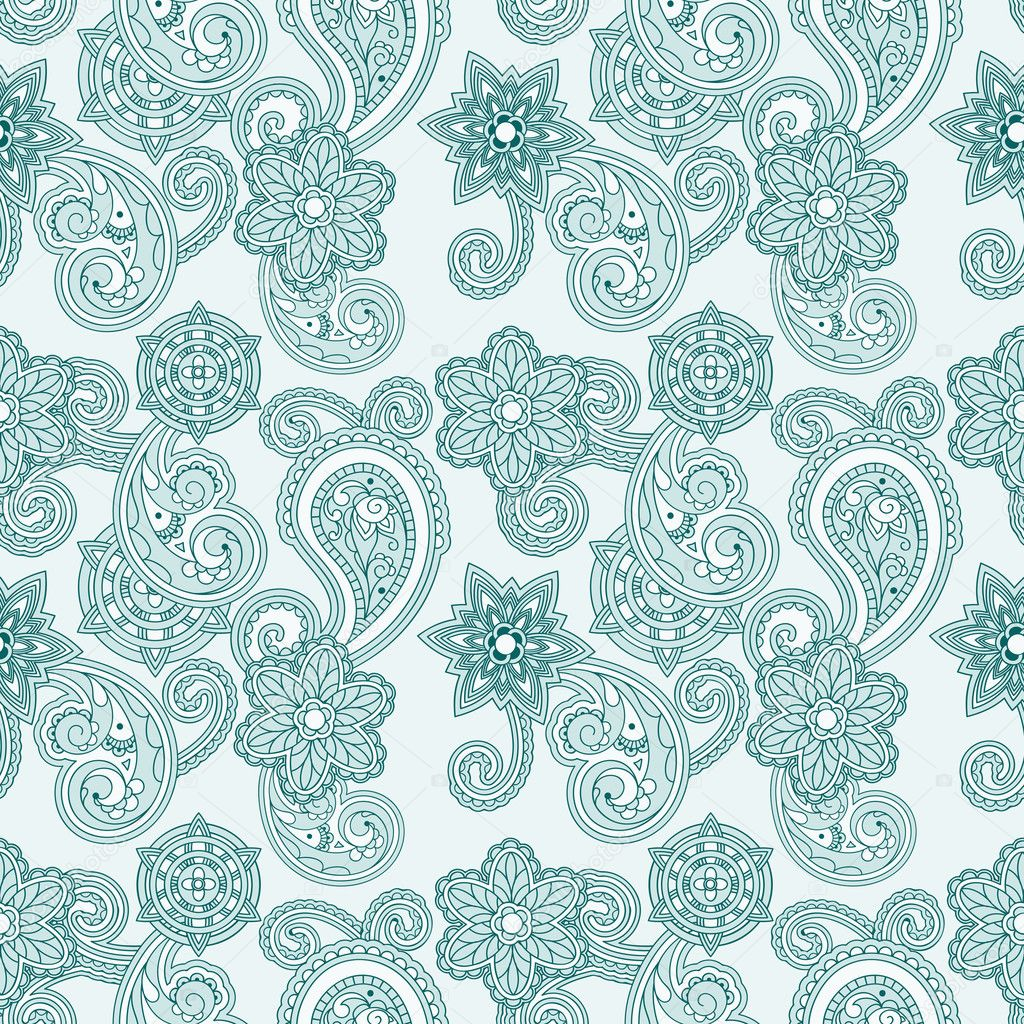 Vector seamless paisley background — Stock Vector ...