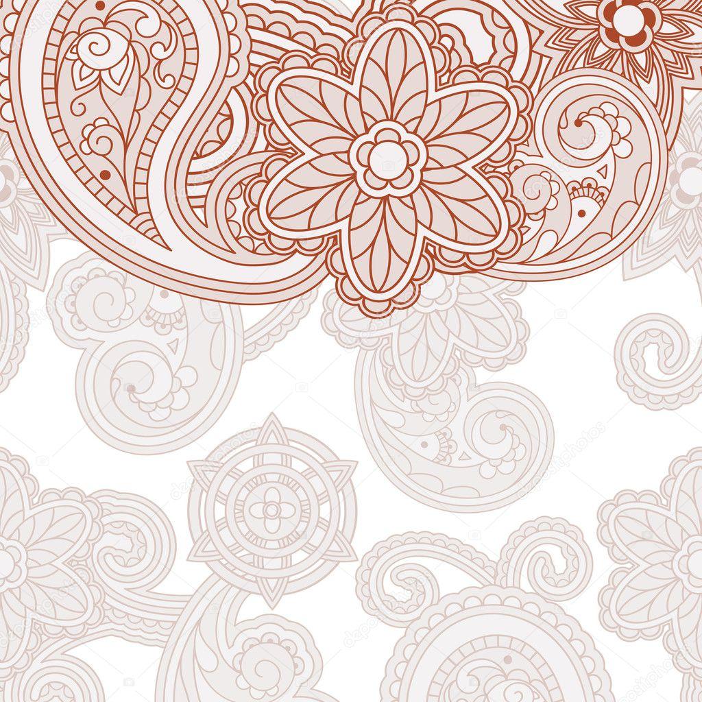 Best Orange U0026amp Teal Paisley Pretty Henna Pinterest Good