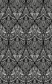 Vector mano dibujada oriental floral de patrones sin fisuras, — Vector de stock