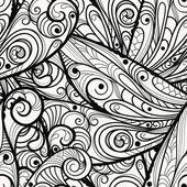 Vector seamless beautiful monochrome pattern — Stock Vector