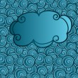 Royalty-Free Stock Vector Image: Vector hand drawn cloud on abstract seamless background with wav