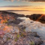 Lake Superior Sunrisr, HDR — Stock Photo