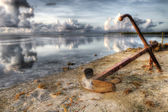 Anchor at Dawn, HDR — Stock Photo