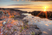 Lake Superior Sunrisr, HDR — Stock Photo