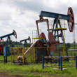 Stock Photo: Oil pumps in West Siberia. Oil industry equipment.