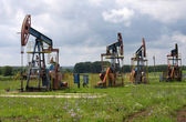 Oil pumps. Oil industry equipment. — Stock Photo