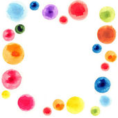 Abstract watercolor background design circles — Stock Photo