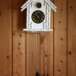 Vintage cuckoo clock made in Russia — Stock Photo
