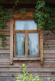 Rustic wooden window. natural background — Stock Photo
