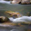 Mountain river with stones. natural background — Stock Photo