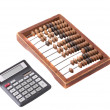 Stock Photo: Old wooden abacus isolated