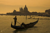 Gondolier in Venice, Italy — Stock Photo