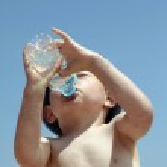 Little Boy drinking water — Stock Photo #5761559