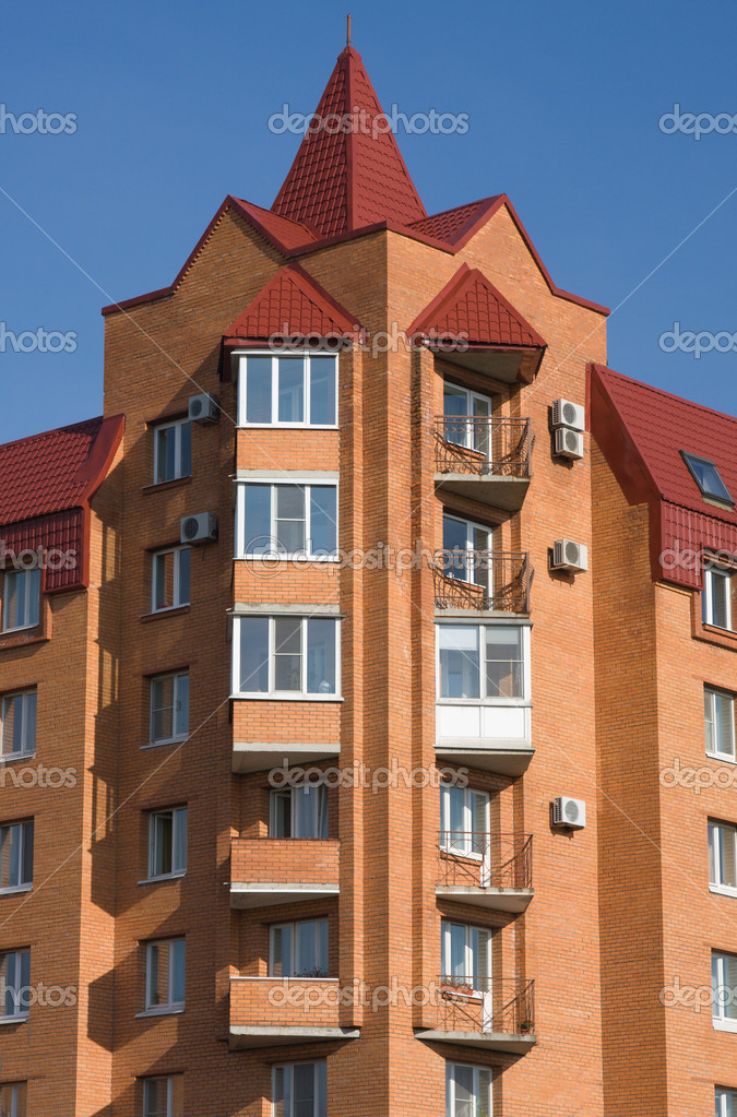 Modern Brick Apartment House Stock Photo Andrey555 5757591