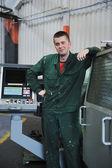 工場の産業労働者 — ストック写真