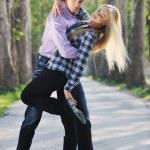 Romantic couple in love outdoor — Stock Photo #5456928