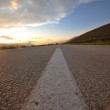 Countryroad adventure with beautiful sunset — Stock Photo #5457684