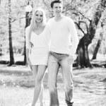 Romantic couple in love outdoor — Stock Photo #5459266