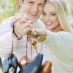 Romantic couple in love outdoor — Stock Photo #5459728