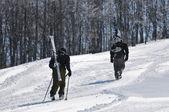 Course de ski — Photo