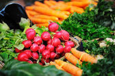 Fresh organic vegetables food on market — Foto de Stock