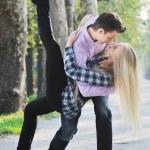Romantic couple in love outdoor — Stock Photo #5460273