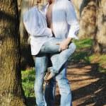 Romantic couple in love outdoor — Stock Photo #5460339