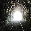 Tunnel end light - Stock Photo