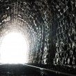 Tunnel end light — Stock Photo