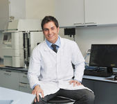 Research and science in laboratory — Stock Photo