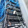 Stock Photo: Network server room routers