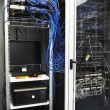 Network server room routers — Stock Photo