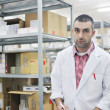 Stock Photo: Medical factory supplies storage indoor